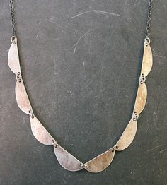 Half Moon Sterling Silver Scallop Necklace by The Quiet Woods on Scoutmob
