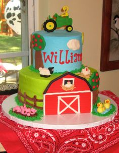 Farm themed birthday cake by Sandy's Sweets