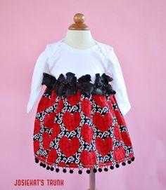 Valentine Dress Be Still My Heart Custom Newborn to 4T