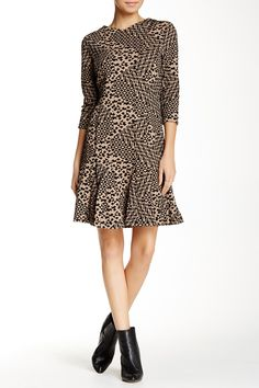 Printed Knit Jacquard Dress by Taylor on @nordstrom_rack