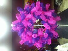 "Hot Pink and Purple 10"" Mesh, Purple Flesx tubing"