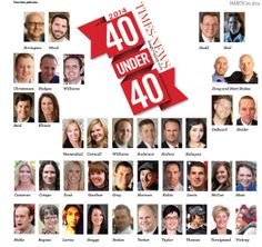 40 Under 40..our own KW Family member Nicole Veenendaal makes TOP 40...Congratulations to all that made the list.