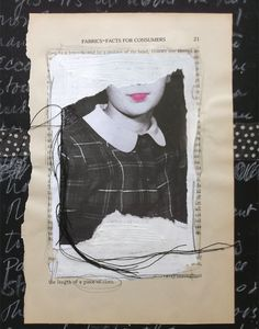 When she found a picture of a schoolgirl that looked just like her growing up, Caterina Giglio transformed this book text into an art journal page that's all about her.