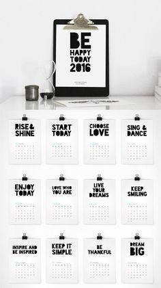 Calendar 2016 printable calendar 2016 calendar by ColourMoon