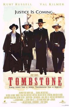 Tombstone, 1993, Kurt Russell, Val Kilmer, Sam Elliott, Bill Paxton, Power Boothe, Michael Biehn, Charlton Heston. One of the best westerns in the last 20 years. Watch this one then watch Wyatt Earp. Hollywood gets a little off history on this one but still a good one.
