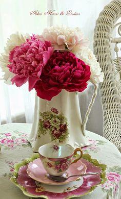 Floral Arrangement ~ Peonies ~ Aiken House & Gardens