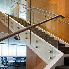 modern glass stainless staircases | ... | Stainless Steel Railings, Spiral Stairs and Glass Stairs | ATD-500