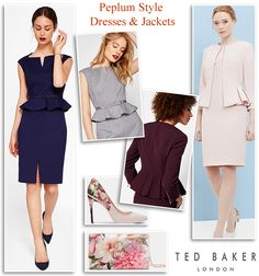 Ted Baker AW17 occasion-wear peplum dresses and jackets