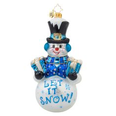 Christopher Radko Ornaments 2015 | Radko Frosty Greetings Ornament