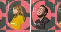 Centre Culturel — Branding on Behance Visual Identity, Brand Identity, Behance, Old Logo, Graphic Design Layouts, Web Design, Typographic Design, Brand Guidelines, The Real World