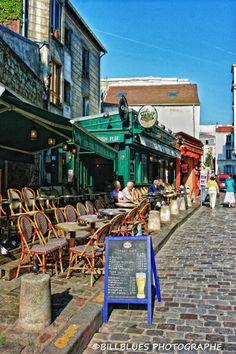 Cafe in Montmartre, Paris, France
