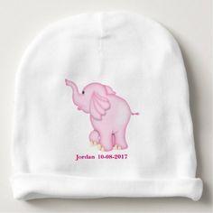 #Kid's Cute Pink Baby Elephant Baby Beanie - #cute #baby #beanies #lovely #babies