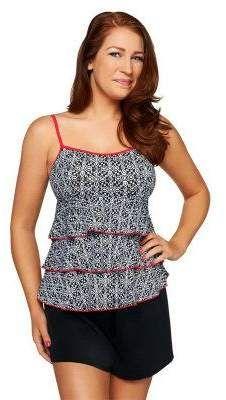 d018ae8986d Plus Size Croft   Barrow® Farrah All Over Control Romper Swimsuit ...