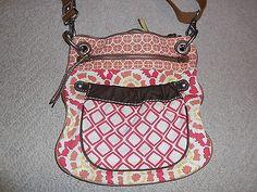 Vintage Fossil weekender canvas crossbody handbag purse ZB2831*gorgeous EUC