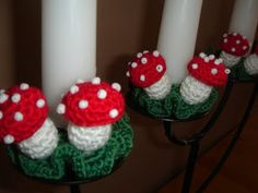 Crochet Mushroom pattern in English, sweet! thanks so for share xox