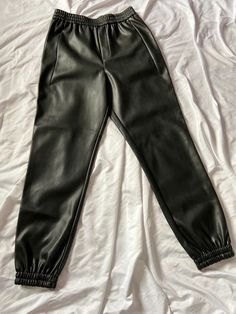 Leather Joggers, Online Thrift, Black Faux Leather, Zara Black, Good Old, Slow Fashion, Product Description, Sweatpants, Brand New