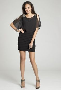 Short Dresses - Shutter Pleat Dress from Camille La Vie and Group USA