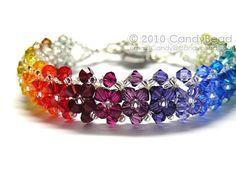 RAINBOW Swarovski Crystal Bracelet by CandyBead