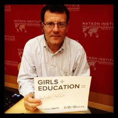 """Who doesn't love him? """"Nicholas Kristof says Girls + Education = Win-Win You fill in the blank: Girls + Education = """" _Exciting possibilities for a better world_________ The Girl Effect, Value Of Women, Labor Rights, Half The Sky, Basic Math, Help Teaching, Brown Girl, Brain Food, Oppression"""