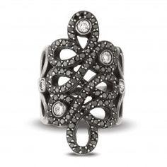 Infinite Love Black Diamond Ring