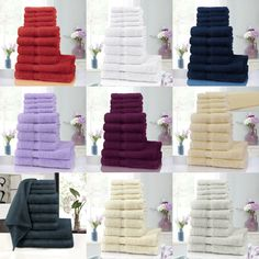 10 Piece Pure Cotton Towels Bale Set 4 Face 4 Hand 2 Bath Towels Highly Absorban Cotton Towels, Towel Set, Bath Towels, Business Ideas, Face, Diy, Bricolage, Handyman Projects, Do It Yourself