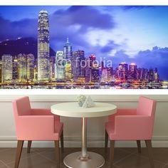 Hong Kong, China City Skyline  MaMurale.com