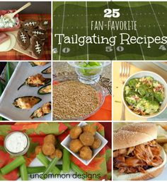 25 Tailgating Recipes... the best list ever!!