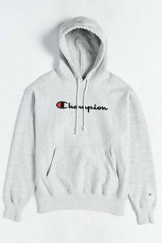 Champion Script Reverse Weave Hoodie Sweatshirt