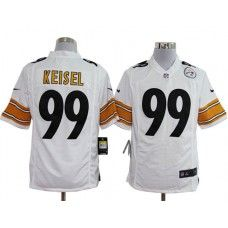 e7aa91275 Nike Mens Pittsburgh Steelers Brett Keisel Jersey 99 Game Team Color White  Pittsburgh Steelers Football