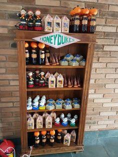Honeydukes favor shelf from a Hogwarts Harry Potter Birthday Party on Kara's Party Ideas | KarasPartyIdeas.com (9)