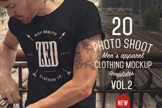 This a follow up to the popular 16 Men's Apparel Mockups VOL.1 20 Professional Photo Shoot Mockups in High res (4800x3200px) Ready for print or web. Easily display your designs on ready made