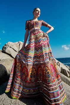 Mesmerizing Indian Couture, Captured by the Sea -- The Cut Indian Fashion Trends, Indian Designer Outfits, Ethnic Fashion, African Fashion, Boho Fashion, Indian Inspired Fashion, Indian Skirt, Dress Indian Style, Indian Wedding Outfits