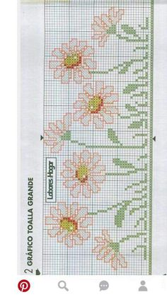 Cross Stitch Designs, Cross Stitch Patterns, Graph Design, Cross Stitch Flowers, Plastic Canvas, Cross Stitching, Bookmarks, Bargello, Embroidery