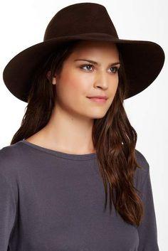 90dcf4855b PHENIX Wide Brim Wool & Genuine Leather Fedora Stylish Hats, Quartz  Watches, Beret,