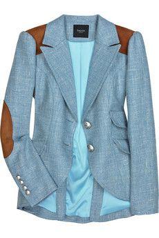 Great light blue equestrian blazer