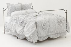 Anthropologie Georgina Bedding Knock-Off Tutorial | So You Think You're Crafty.  Holy cow...this is gorgeous!