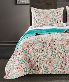This Morocco Gem Quilt Set by Greenland Home Fashions is perfect! #zulilyfinds $  74.99  100% cotton  Pretty!!