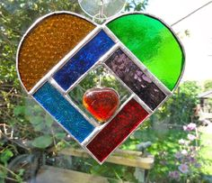 Heart Stained Glass Suncatcher