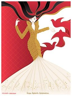 Alexander McQueen F/W 2010 holiday illustration.    Fun project to work with an amazing illustrator.