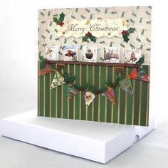 Extra Special Christmas Card, Unique Greeting Cards, Luxury Handmade Cards… Unique Christmas Cards, Christmas Bunting, Christmas Card Crafts, Unique Cards, Very Merry Christmas, Handmade Christmas, Miniature Christmas, Handmade Cards, Greeting Cards