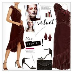 """""""Crushing on Velvet"""" by alves-nogueira ❤ liked on Polyvore featuring Ulla Johnson, Stuart Weitzman, Rebecca Minkoff, GUESS by Marciano, Design Lab and Kevyn Aucoin"""