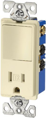 Eaton TR7730A 15Amp 3Wire TR Receptacle 120Volt Decorator Combination SinglePole Switch with 2Pole Almond ** Check out this great product.Note:It is affiliate link to Amazon.
