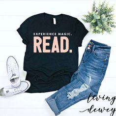 Mindset Is Everything - Quotes T Shirt - Ideas of Quotes T Shirt #quotesshirts #quotetshirts -   Do you believe that reading is magical? I hope you do because it is and I think the whole world should know it! This adorable t-shirt featuring the words Experience Magic. Read. will bring the feeling of magic to your wardrobe and your life!