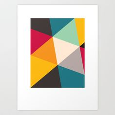 Tilting Triangles Art Print by Gary Andrew Clarke - $18.00