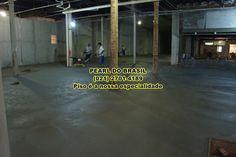Concreto Polido, polimento com acabadora de superfície.
