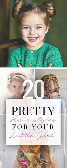 The hair is a girl's crowning glory. Check out these awesome hairstyles for your daughter! #hairdo #braids #prettyhair #hairstyles www.momooze.com