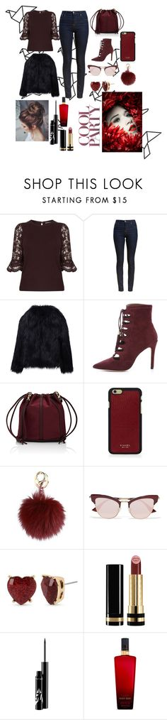 """""""COOL PARTY!!😗"""" by dumitru-ariadna ❤ liked on Polyvore featuring Barbour, WithChic, Cynthia Vincent, Deux Lux, Vianel, Le Specs, Betsey Johnson, Gucci and Victoria's Secret"""