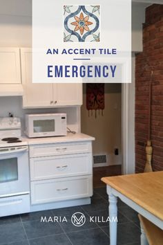 Today I'm sharing an example where accent tile can help SAVE a white kitchen. Yes, you read that right… Sometimes accent tile is an emergency solution. Here's where accent tile works. White Kitchen Decor, White Kitchen Cabinets, White Kitchens, White Tiles, Better Homes And Gardens, Home Renovation, House Colors, Decorating Tips, Beautiful Homes