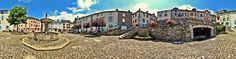 La Fontaine des pisseurs est situé sur la place du Griffoul à Lacaune-Les Bains, Tarn, Midi-Pyrénées