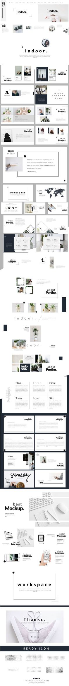 Indoor - Modern Minimal Presentation Template - Business PowerPoint Templates